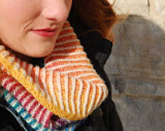 Chromatic Cowl Kit, by Amy Detjen, dyed to order