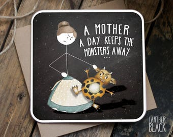 Funny Mothers Day Card / Mother's Day Card / Funny Mum birthday card / Funny mum card / Cute mum card / Monsters /  SM62