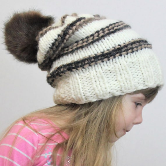 knit toddler slouchy hat pattern english