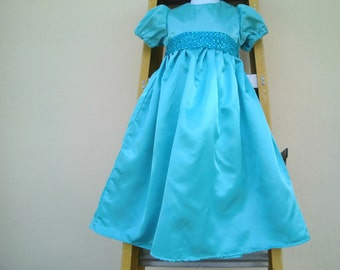Nightgown/ Wendy Darling Dress / Costume in blue sateen