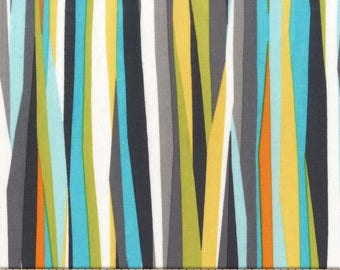Seaweed Current Stripes 100% Cotton from Michael Miller Fabric's Mer-Mates Collection