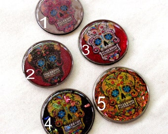 Sugar Skulls Day of the Dead Photo Art Resin Vintage Watch Back Cabochons Jewelry Making Bow Center Phone Case Decoden Mixed Media A2