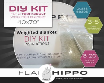 DIY Kit for Teen/Adult Weighted Blanket - Pick Your Weight - Step-by-Step Instructions