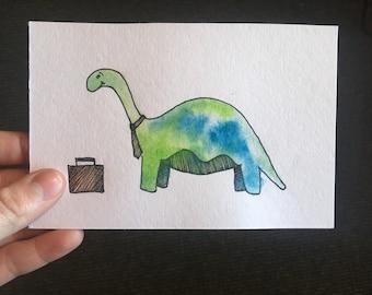 Busy Dinosaur Illustration