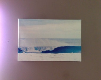 Wave canvas photography