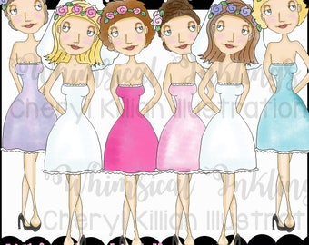 Miss Celeste Clipart Collection- Immediate Download