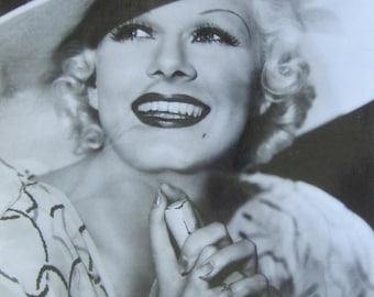 Vintage Jean Harlow Movie Still 8 x 10 Photo - Hollywood Glamour Girl - Free Shipping