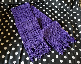 Purple Glitter Scarf **Ready to Ship**