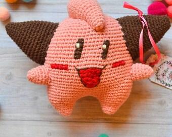 Amigurumi crochet Melo Pokemon toy
