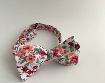 Self Tie Bow Tie- Bouquet