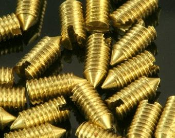 """20 Pcs Raw Brass 3 x 6,6 mm 1/8"""" bolt"""