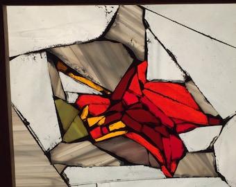 Leaf Glass Mosaic Piece