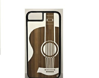 iphone 6/7 wood engraved Acoustic Guitar