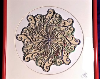 metallic quilled swirl ~ by Willowbrook Creations