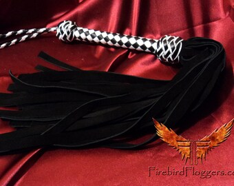 Suede Leather Flogger, BDSM toy, Leather Fetish Whip, Mature