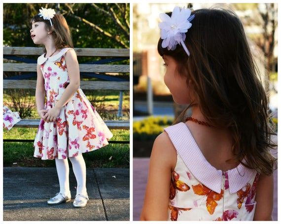 Schnittmuster für ein Mädchen Kleid Vivienne Digitales