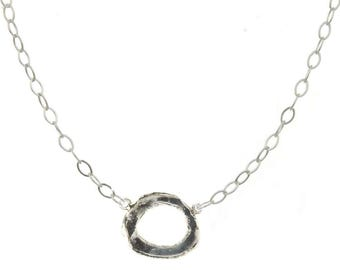 Cheery-O Sterling Silver Circle Necklace