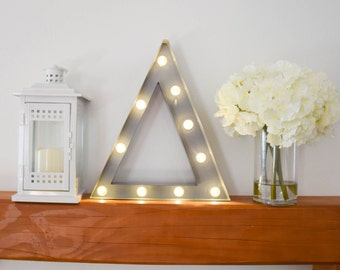"""Greek Letter Lights """"Delta"""" / Letter Marquee Light """"Delta"""" / Sorority Marquee Letters / Light up Letters / Sorority Lights / Marquee Signs"""