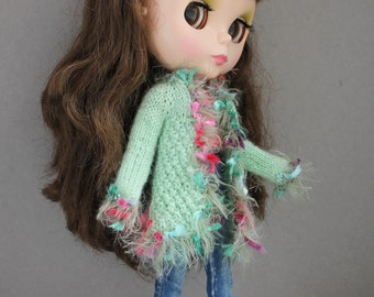 Knitted jacket for Blythe