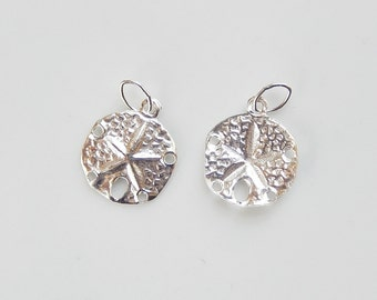 2pcs Sterling silver sand dollar