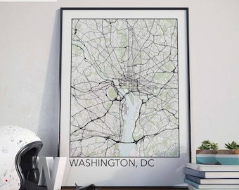 Washington, DC Minimalist City Map Print