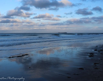 Bamburgh Beach In Northumberland, Photograph, Print, Wall Hanging, Home Decor, 12x8, 16x12
