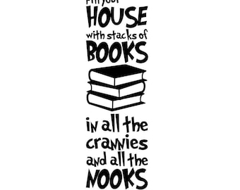 Dr. Seuss - Fill your house with stacks of books - Vinyl Wall Decal