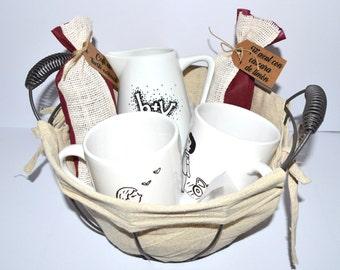 Pack de desayuno de tazas personalizadas para parejas / Breakfast pack couple custom mugs
