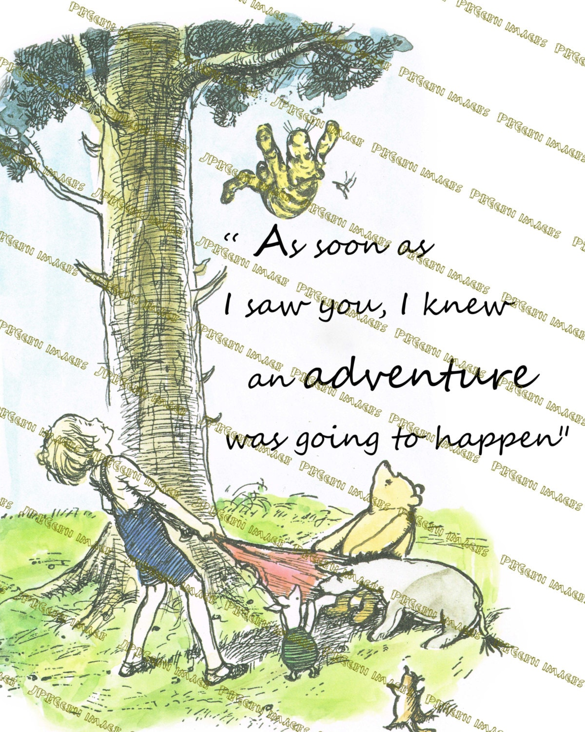 Quotes About Friendship Winnie The Pooh Set Of 4 Classic Winnie The Pooh Quote Prints