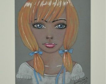 Original pastel painting A4 size Mounted and backed