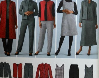 Uncut 2004 Simplicity Sewing Pattern 4789; Size 10-12-14-16-18; Misses'/Women's Pants, Vest and Jacket and Jumper