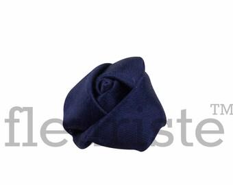 NAVY Rosette, Satin Rolled Rosette, Fabric rose, Rolled Rosette, Wholesale Flower, Fabric Flower, Wedding Flower, Flower Embellishment
