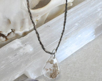 Country Heart Resin Pendant Necklace