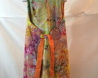Girls 1960s Vintage Style Reversible Wrap Dress Size 9/10
