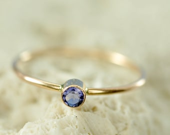 solid 14k gold custom birthstone ring - mothers ring - natural gemstone ring - birthday gift for her - gift for mom - promise ring