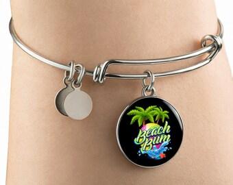 Beach Bum Bangle Bracelet beach bracelet bangle bracelet beach jewelry