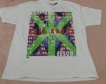 "Kris Kross ""Totally Krossed Out"" 1992 vintage Large NEW Deadstock Shirt Hip Hop Rap Naughty By Nature Public Enemy Onyx 90s"