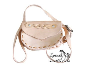 Leather Purse - Belt Bag - Hand Stitched Purse - Shoulder Bag - Epona Leatherworks