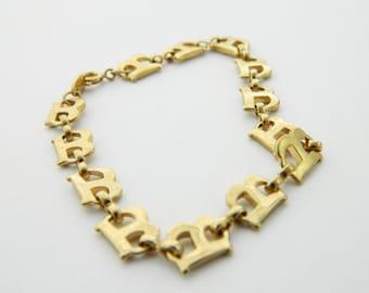 Vintage TRIFARI Initial Bracelet