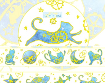 1 Roll of Limited Edition Washi Tape: Starry Starry CAT