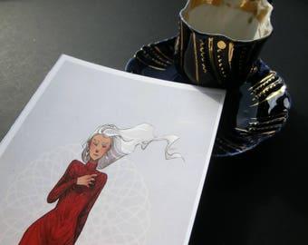 Haunted Postcard Art Print