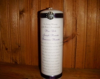 We thought of you with love today Memorial Candle with gem