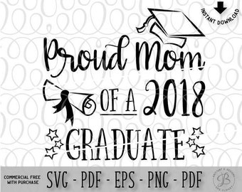 2018 SVG Proud Mom Senior Class Dad Graduation Hat Cap Tassel