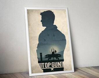 Top Gun poster alternative poster classic movie poster F-14 poster Tomcat poster Tom Cruise poster 80s poster Maverick Goose Iceman Charlie
