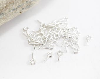 100 pegs screw - long. 10 mm - light silver color