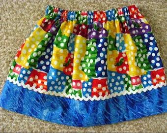 Fun Caterpillar  Skirt  (18 mos, 2T, 3T, 4T, 5, 6, 7)