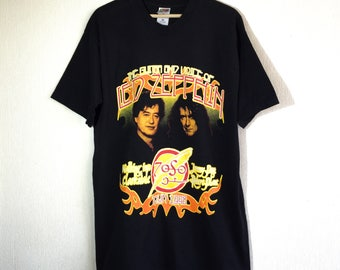 1990s Jimmy Page and Robert Plant vintage t-shirt // band tee
