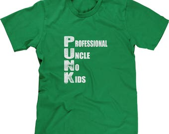 Professional Uncle No Kids Mens Short Sleeve T-shirt -Baby Nephews Nieces Spoiled Love Family Gift Present -DT-01157