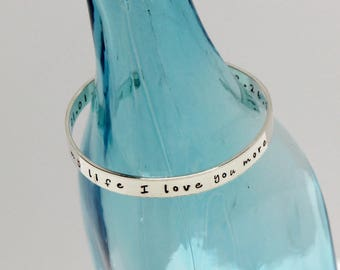 Sterling Silver Cuff Bracelet. Personalized Custom. Your Message. Quote Jewelry. Literary Quote. Biblical Quote. Inspirational Quote.  925