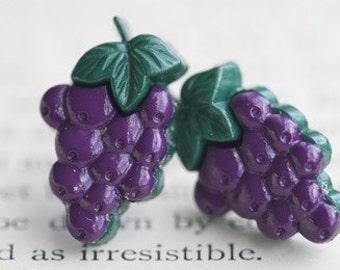 Grape Juice Stud Post Earrings
